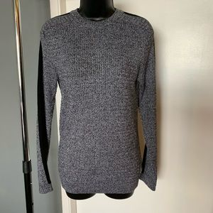 like new ASOS River Island grey/blk stripe sweater